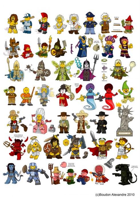 Le mystère des minifigures série 8 LEGO dans Mystères et rumeurs characterdesignbourdon